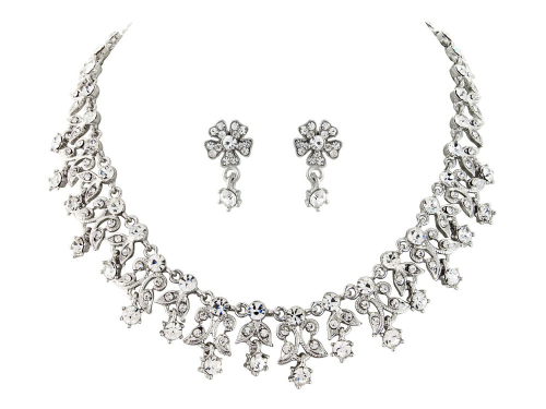 Zara crystal bridal necklace set